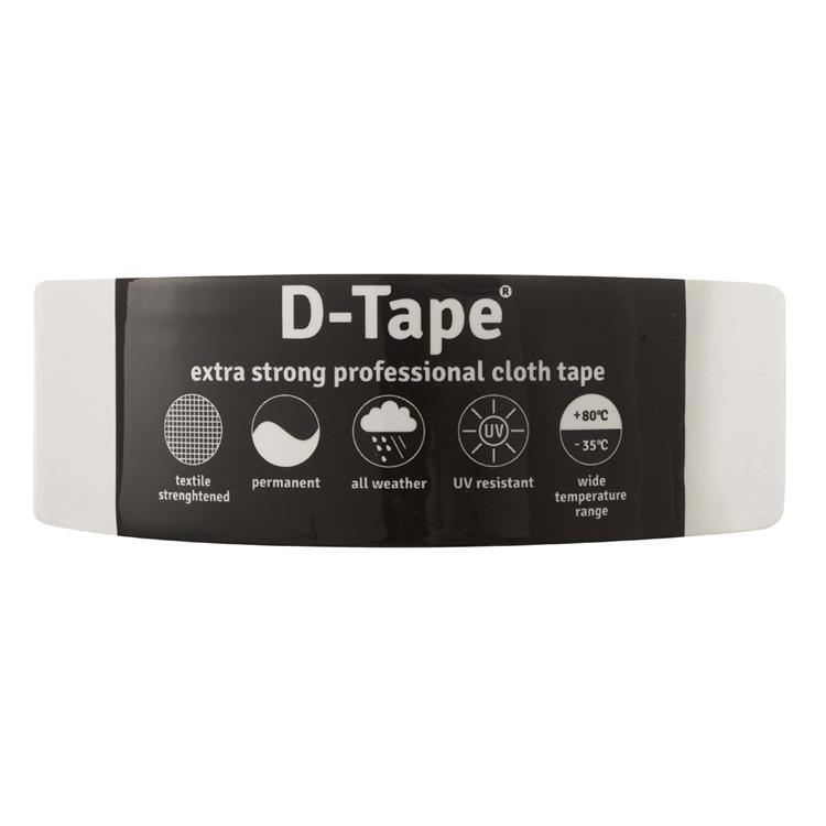 Deltafix Delta 1 tape permanent wit 50mx50mm
