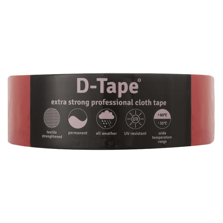 Deltafix Delta 1 tape permanent rood 50mx50mm