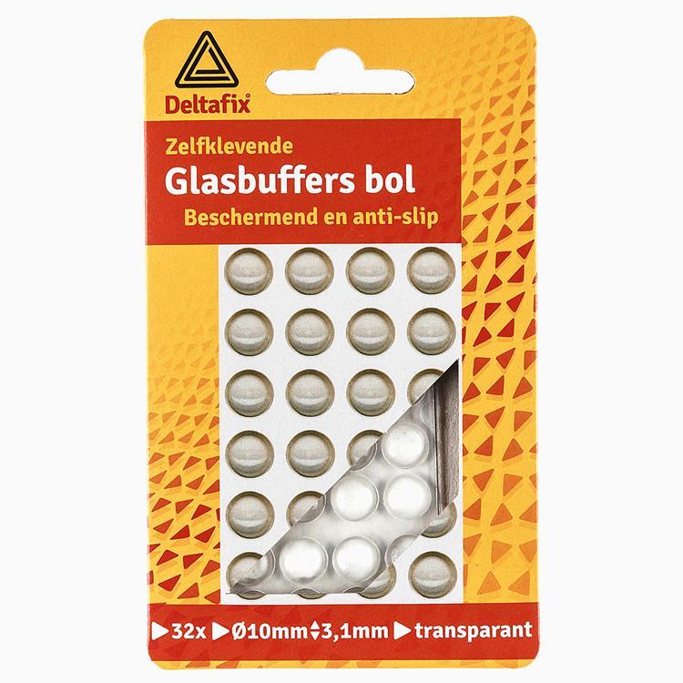 Deltafix Glasbuffer bol 32 stuks 10mmx3,1mm transp.