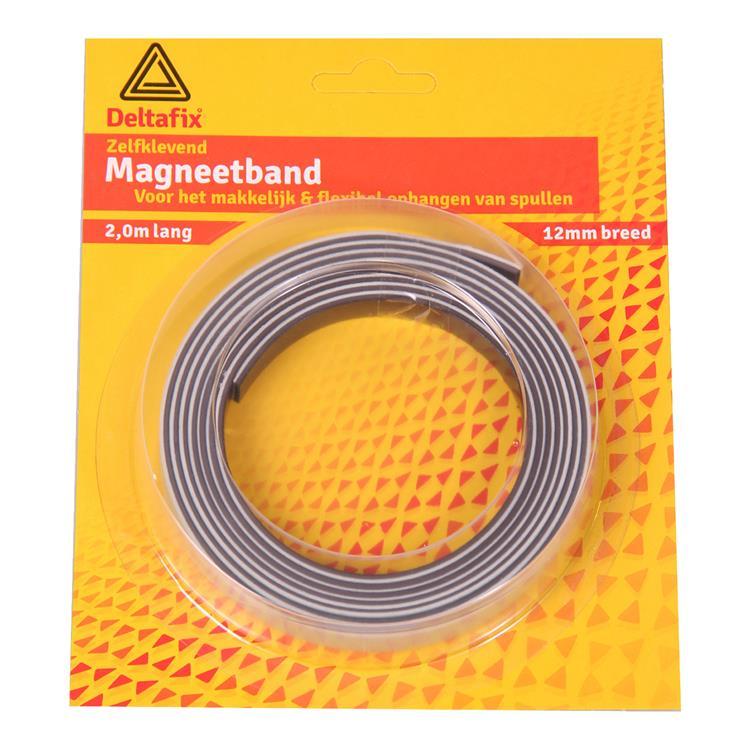 Deltafix Magneetband bruin 2m 12mm 2mm