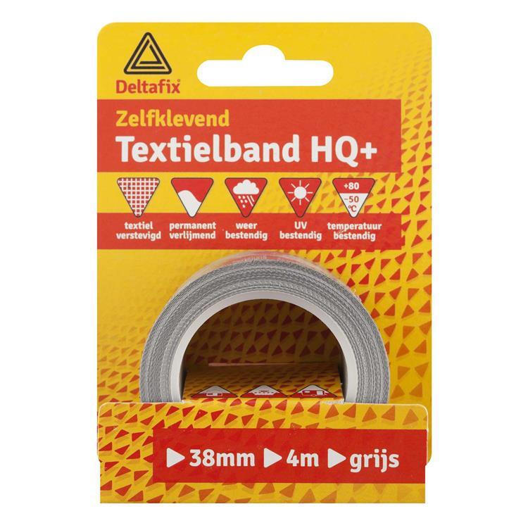 Deltafix Textielband watervast 38mmx4m geel