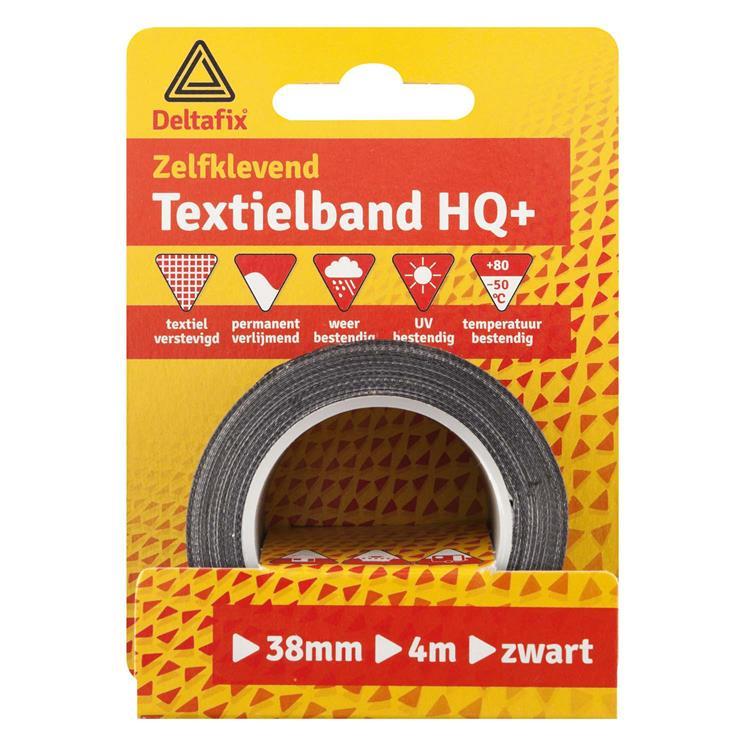 Deltafix Textielband watervast 38mmx4m zwrt