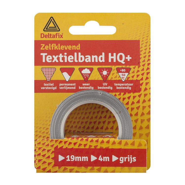 Deltafix Textielband watervast geel 19mmx4m