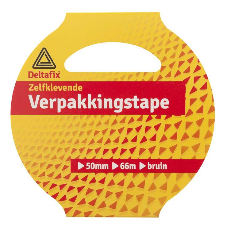 Deltafix Verpakkingstape huls 50mmx66m bruin