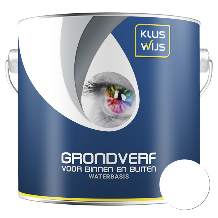 KlusWijs Grondverf Acryl waterbasis wit 2,5 liter