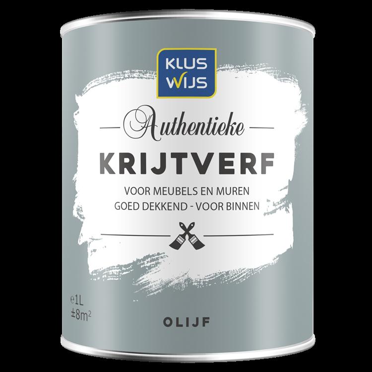 KlusWijs Krijtverf water basis 14637 Olijf 1 liter
