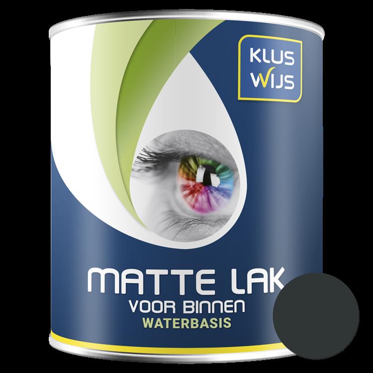 KlusWijs Matte lak waterbasis Zwart 750ml