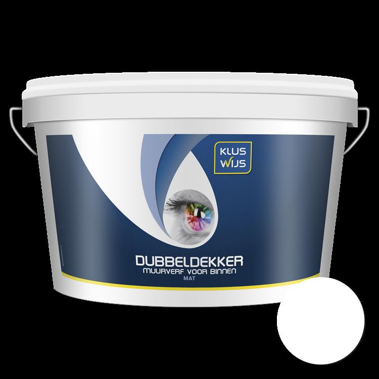 KlusWijs Muurverf Dubbeldekker waterbasis Wit 2,5 liter