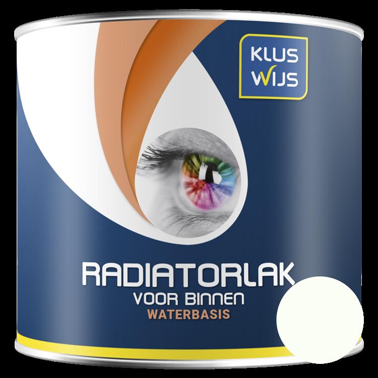 KlusWijs Radiatorlak waterbasis RAL 9010 250ml