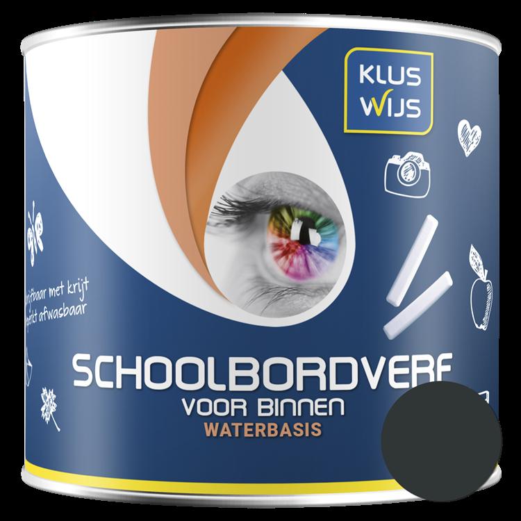 KlusWijs Schoolbordverf water basis Zwart 500ml