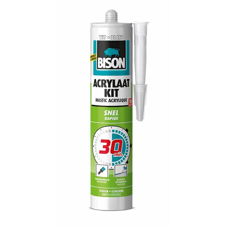 Bison Acrylaatkit 30 minuten white cartridge 300 ml