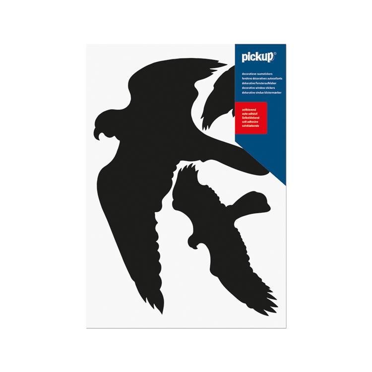 PICKUP Pictogram glassilhouetten 19x27cm zwarte vogels