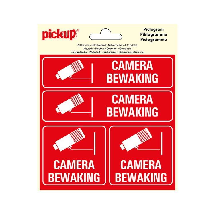 PICKUP Pictogram Vinyl 15x15cm 4 op 1 - Camerabewaking