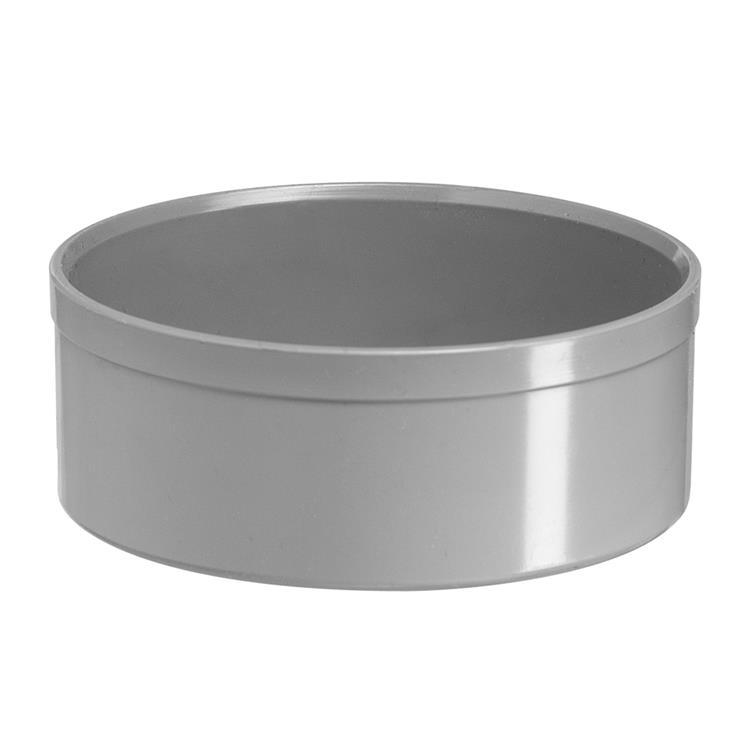 Martens Eindkap om de buis, hwa, PVC, grijs, 100 mm