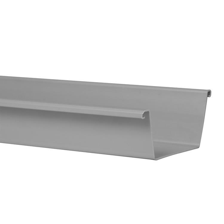 Bakgoot 125 mm, lengte 4000 mm grijs