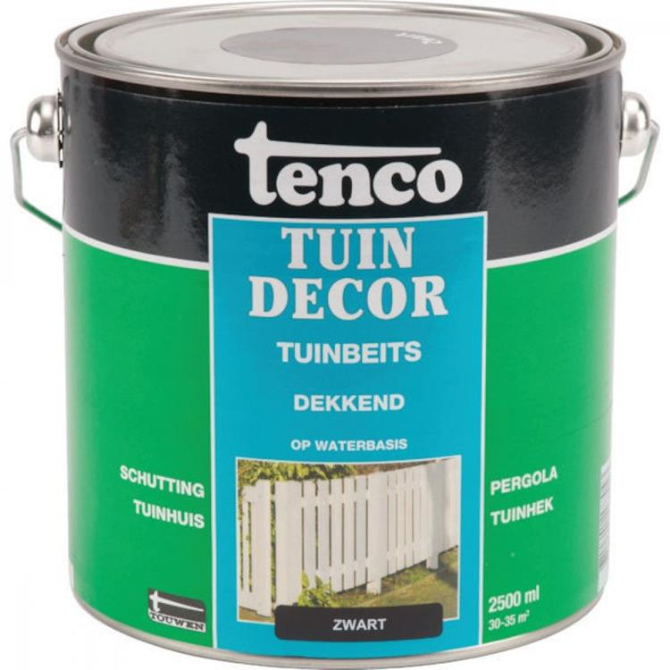 Tenco Tuindecor dekkende tuinbeits waterbasis zwart 2,5 liter