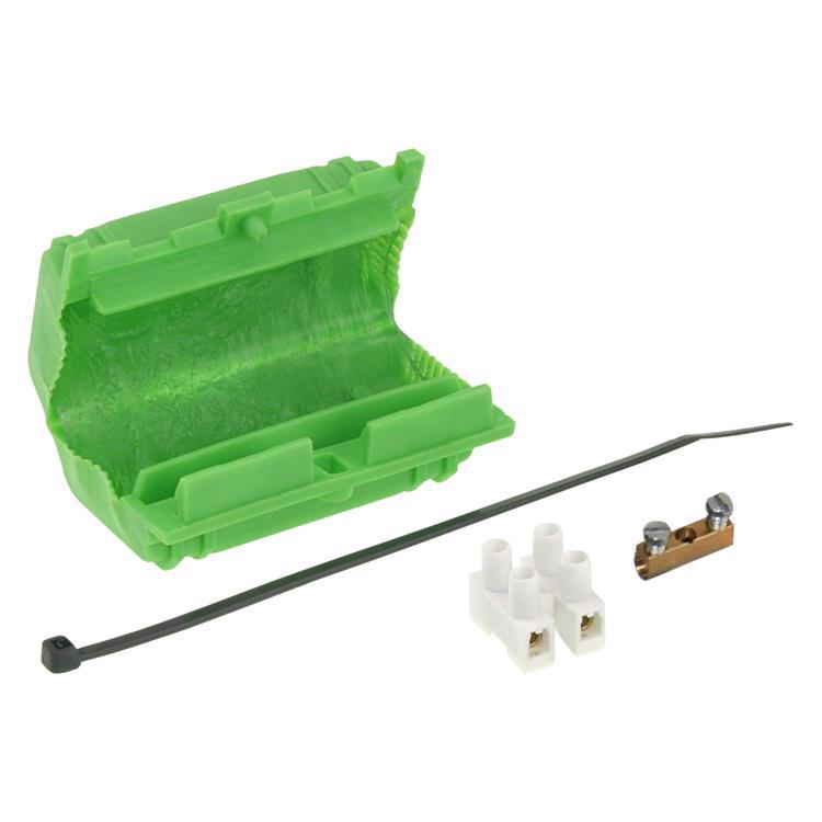 Q-link kabelverbinder set met gel 3 x 1-4 mm² groen