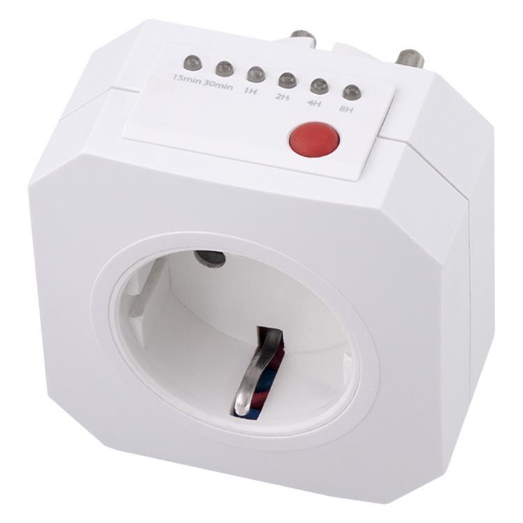 Q-link tijdschakelklok randaarde wit