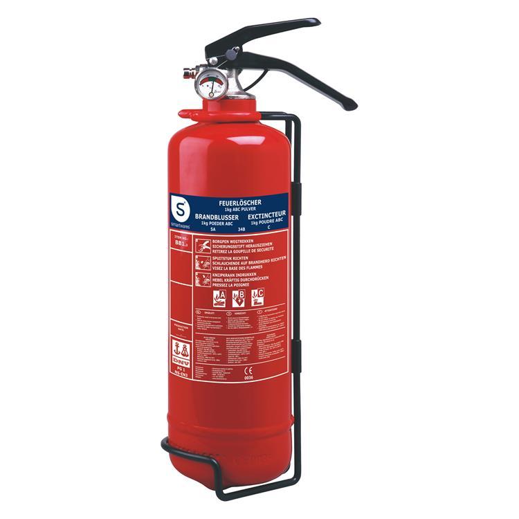 Smartwares brandblusser poeder, 1kg, abc, bb1 rood