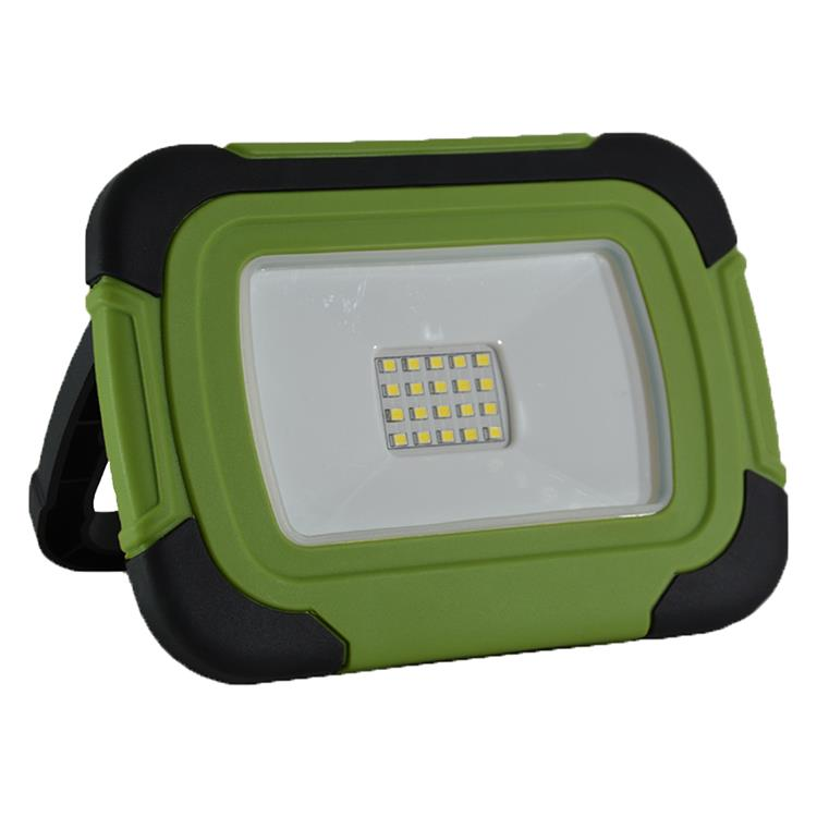 V-tac werklamp led, 20w, oplaadbaar, zwaailicht, vt20r groen/zwart