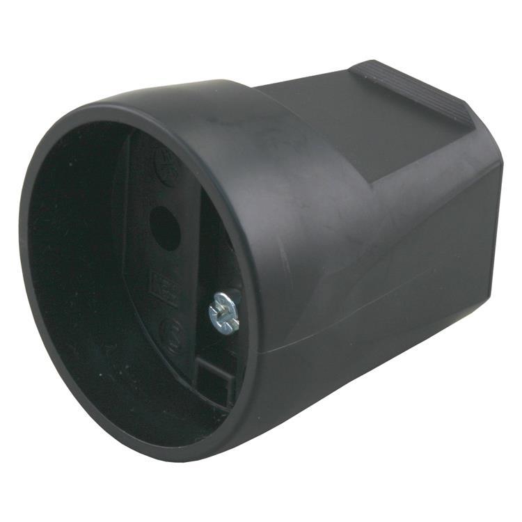Contrastekker 16a zwart