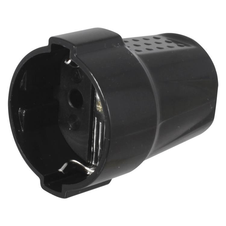 Contrastekker randaarde, 10/16a 50 x 44 x 60 mm zwart