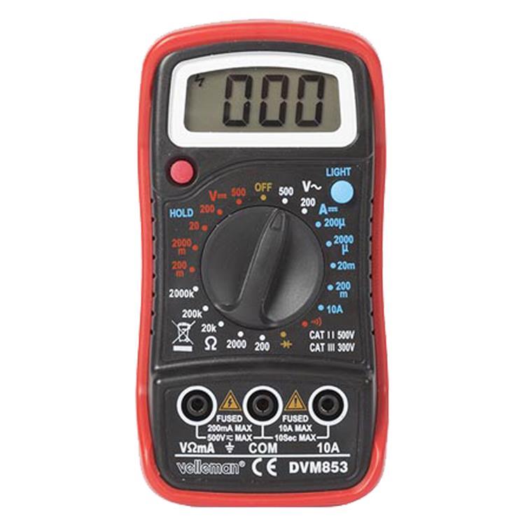Q-link multimeter digitaal cat3 300v en cat2 500v zwart/rood