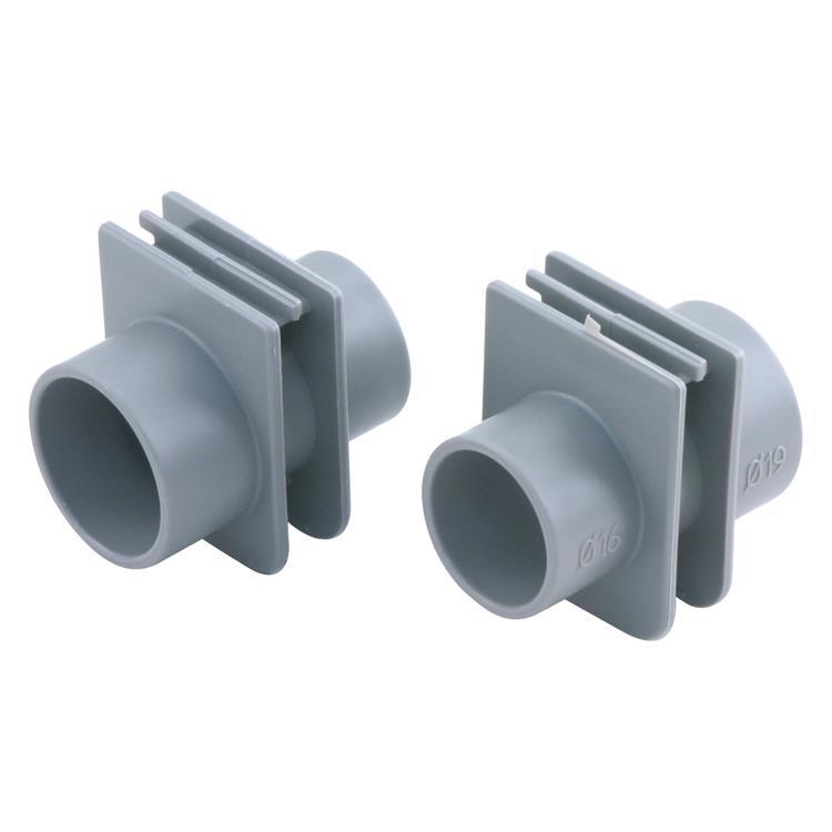Pipelife buisinvoerstuk flexbox 16/19 mm grijs.Inhoud 3 stuks