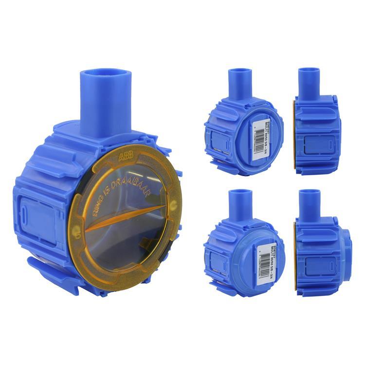 Haf inbouwdoos multi, md4050 ø5/8 - ø3/4 blauw