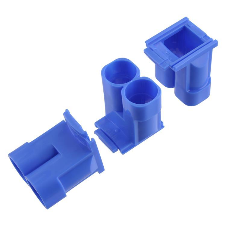 Haf spruitstuk multi 2 x ø5/8 - ø3/4 blauw.Inhoud 3 stuks