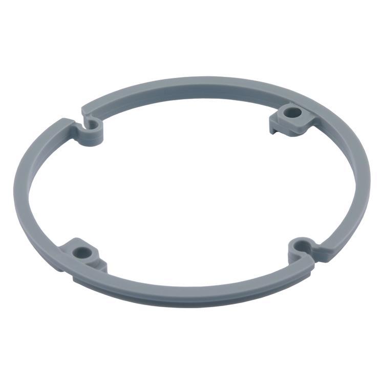 Haf correctiering voor inbouwdoos 4 mm grijs.Inhoud 10 stuks