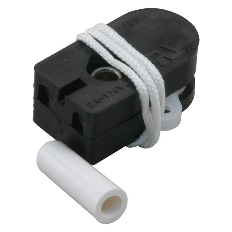 Q-link trekschakelaar enkelpolig, inbouw, universeel 28 x 12 x 20 mm zwart.inhoud 2 stuks