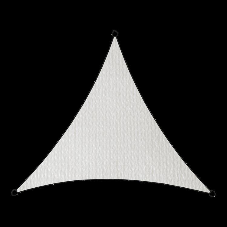 Schaduwdoek driehoek wit 3,6 meter