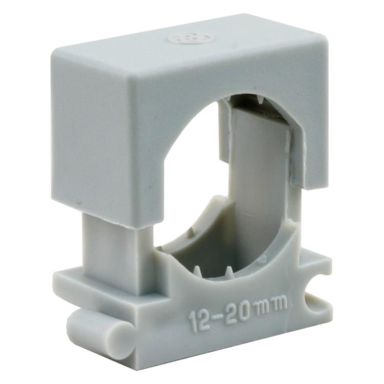 Q-link drukzadel installatiebuis, blokmodel 12-20 mm grijs.Inhoud 10 stuks