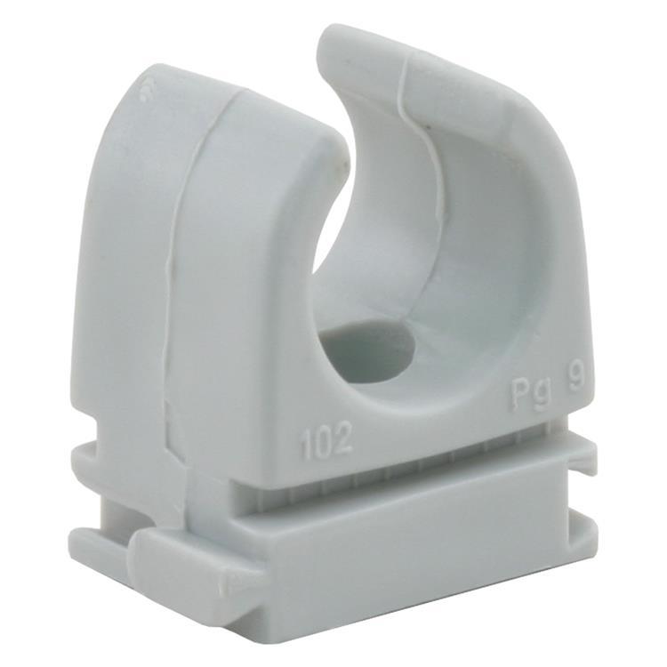 Q-link klembeugel installatiebuis 16 mm grijs.Inhoud 10 stuks