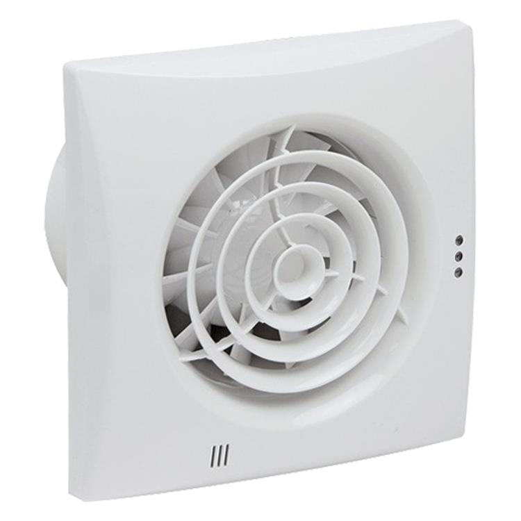 Nedco ventilator silencio, met timer, kogellagers ø100 mm wit