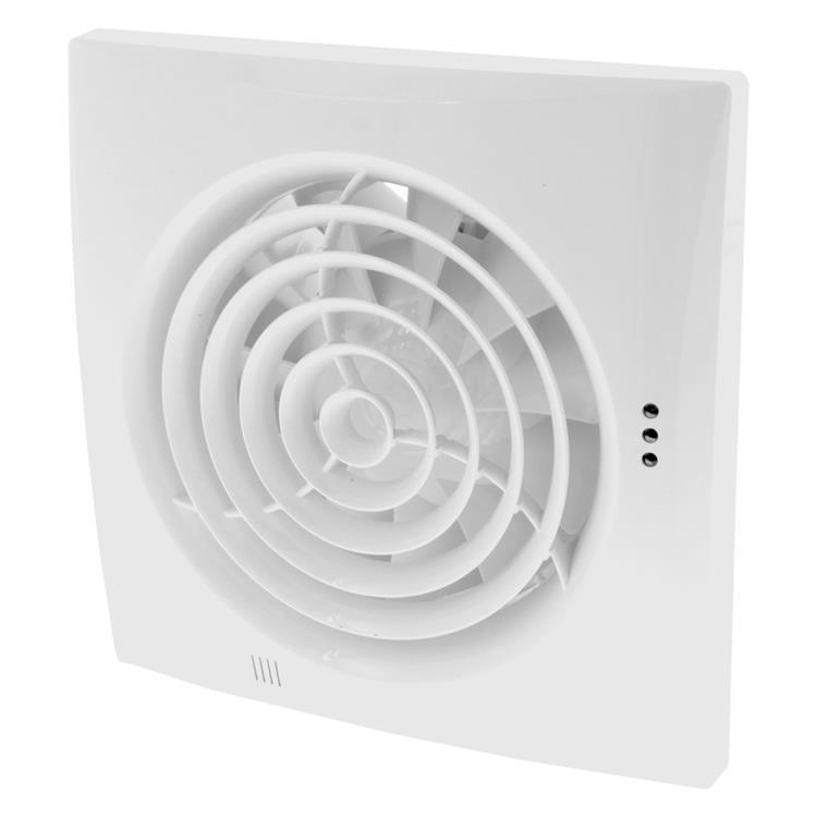 Nedco ventilator silencio, met timer, kogellagers ø125 mm wit