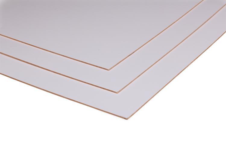 MDF plaat lakboard wit  2440x1220x3 mm