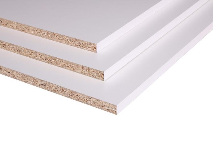 Paneel wit structuur 2500x800x18mm