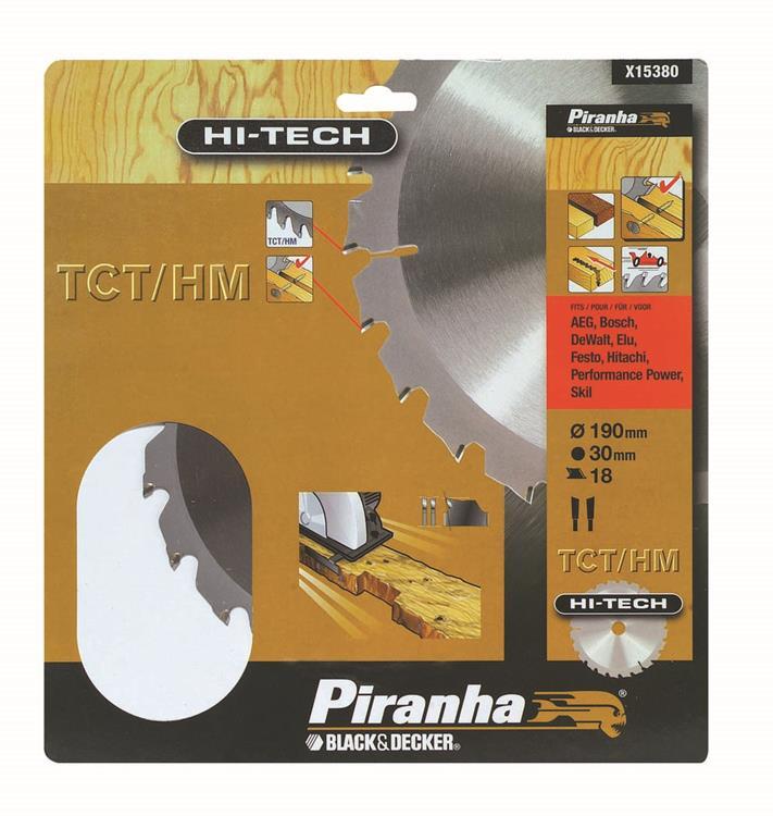 Piranha HI-TECH cirkelzaagblad TCT-HM 190x30 mm 18 tanden X15380