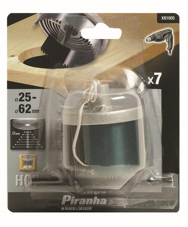 Piranha gatenzaagset aluminium 25-62 mm 7-delig X81005