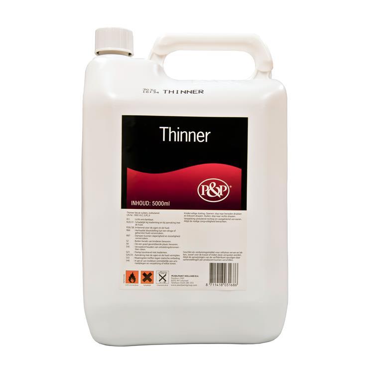 P&P thinner 5 lt