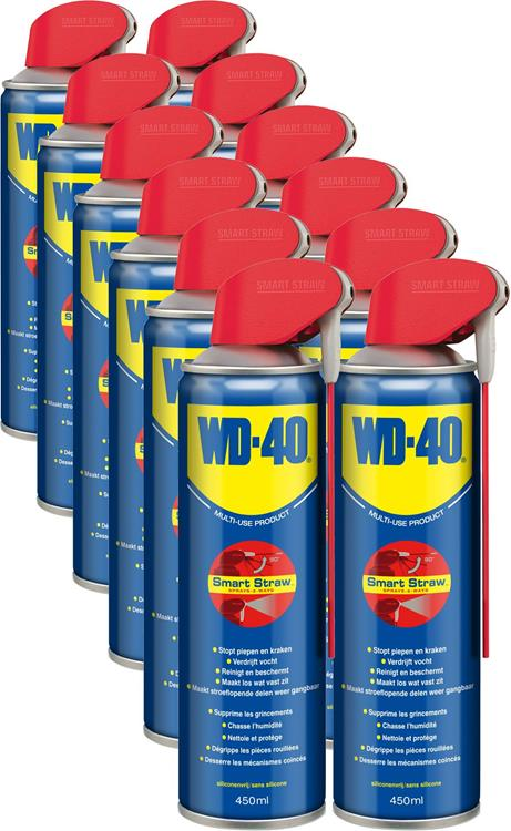 12 pack | WD-40 MULTI SPRAY SMART STRAW 450 ML BULK