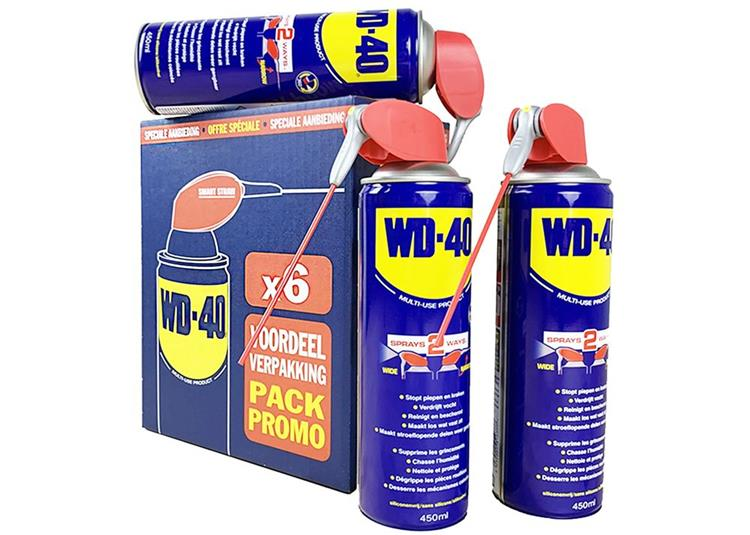 6 pack | WD-40 MULTI SPRAY SMART STRAW 450 ML BULK