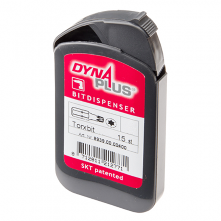 DYNAPLUS Bit dispenser Torx T25 (Doosje 15 bitjes)
