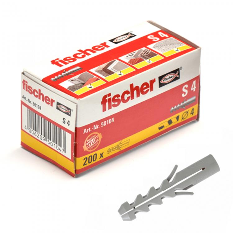 FISCHER Pluggen S4 (200 stuks)