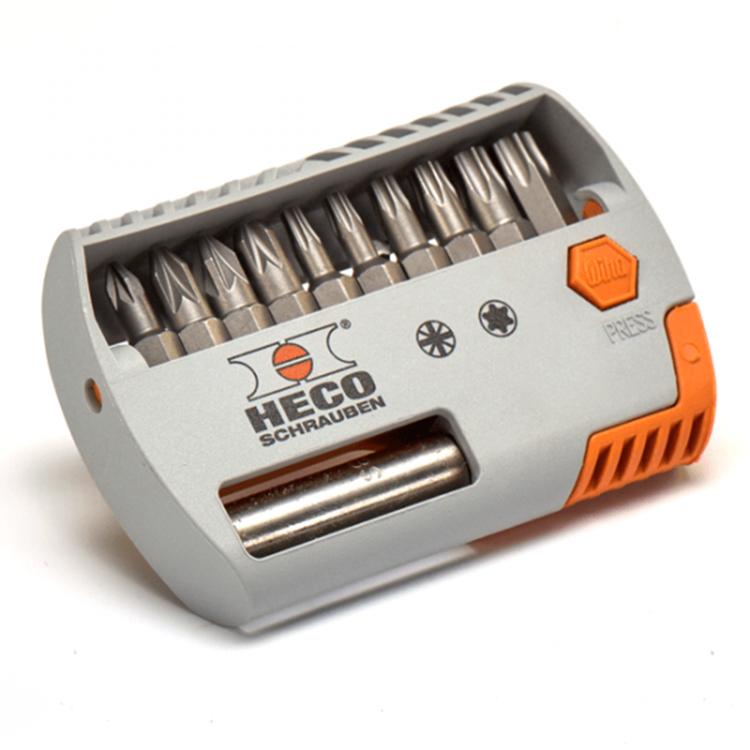 HECO Bitset T10, T15, T20, T25, T30, T40 / PZD-1, PZD-2(2X), PZD-3 + bithouder