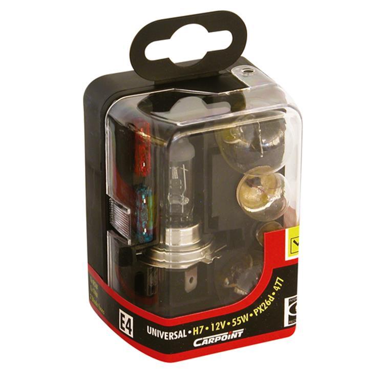 Carpoint 7-Delige Reservelampenset H7
