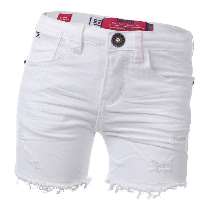 Blue Rebel  - White - highrise short - betties