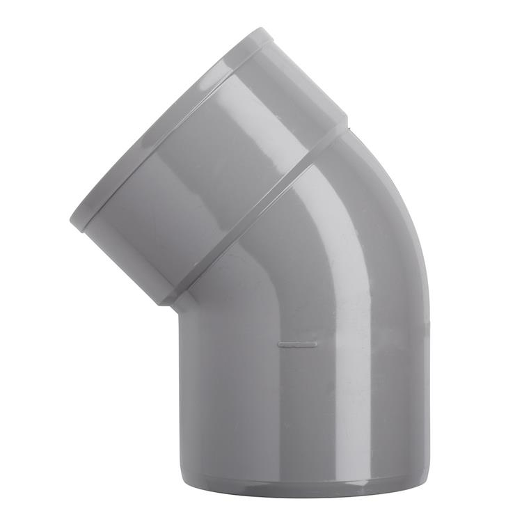 Martens PVC bocht 110mm 2xlijm 87gr grijs